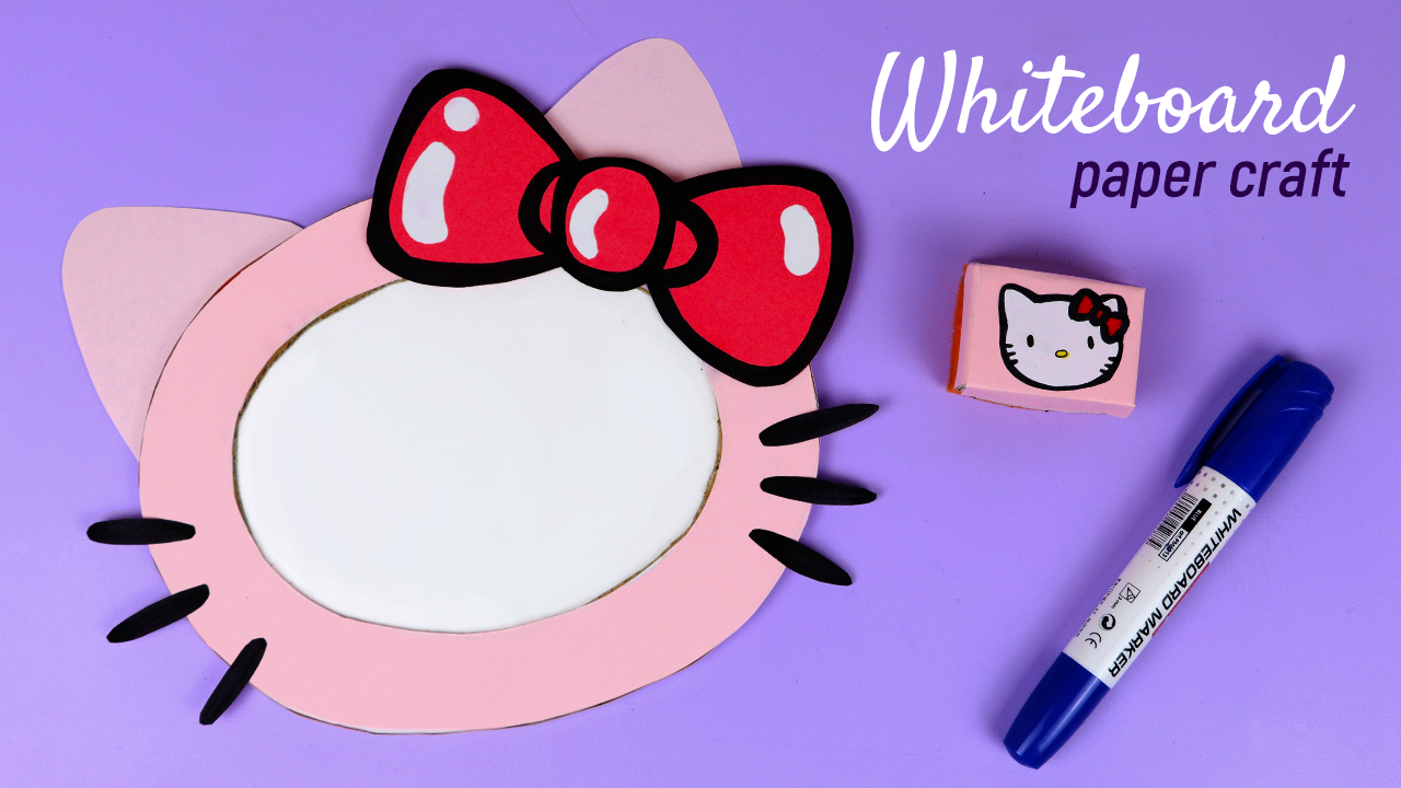 How to make Hello Kitty Whiteboard Kids Set With Paper
